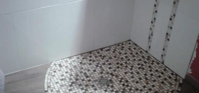 Réparation d'une douche italienne